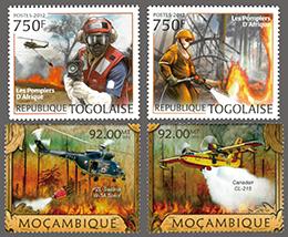 消火作業・アフリカ