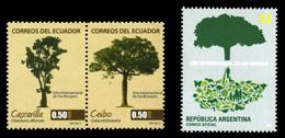 南米の国々─樹木で表現
